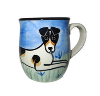 Russell Terrier, Tri-colored, Hand-Painted Ceramic Mug