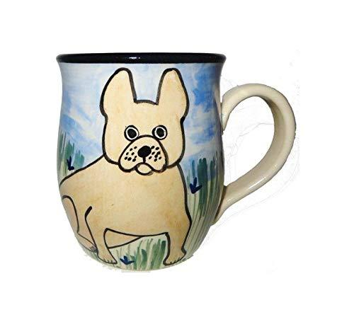 French Bulldog, Tan, Hand-Painted Ceramic Mug