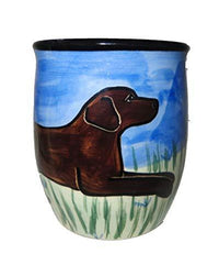 Labrador Retriever, Chocolate, Hand-Painted Ceramic Mug