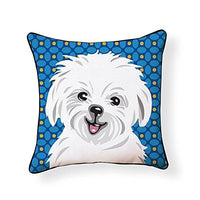 Maltese Pooch Decor Decorative Pillow