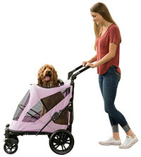 Push Button, Zipperless Dual Entry Dog Stroller