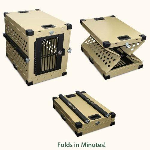 Collapsible, Durable Aluminum Dog Crate from Grain Valley