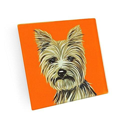 Yorkshire Terrier Hand Crafted Glass Dog Coasters
