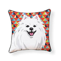 American Eskimo Dog Pooch Decor Decorative Pillow