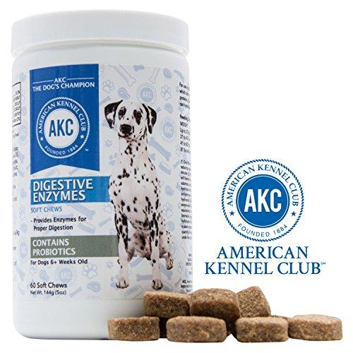American Kennel Club AKC Probiotics and Digestive Enzymes Supplement for Dogs