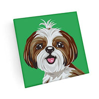 Shih Tzu Hand Crafted Glass Dog Coasters