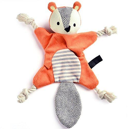 Stuffing-free Crinkly Squirrel Dog Toy