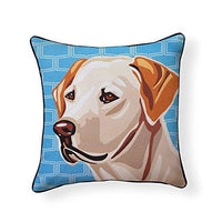 Yellow Labrador Retriever Pooch Decor Pillow