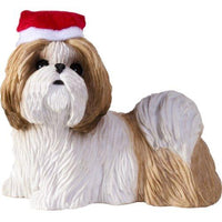 Shih Tzu, Gold and White, Ornament