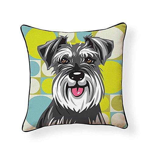 Schnauzer Pooch Decor Decorative Pillow