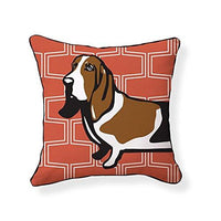 Basset Hound Pooch Decor Decorative Pillow