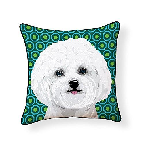 Bichon Frise Pooch Decor Decorative Pillow