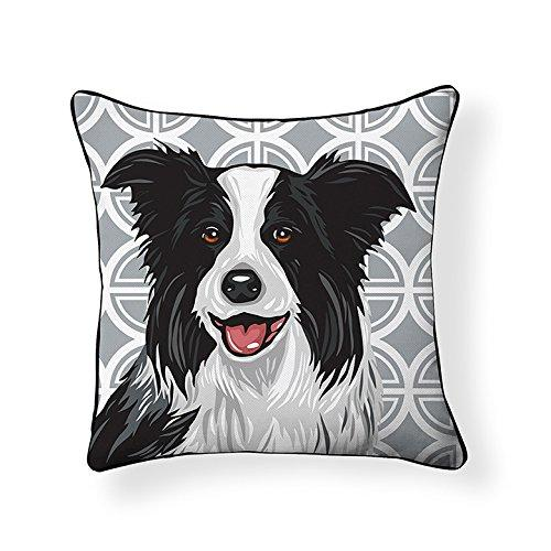 Border Collie Pooch Decor Decorative Pillow