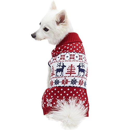 Christmas Sweaters For Dogs.Ugly Christmas Reindeer Pullover Dog Sweater