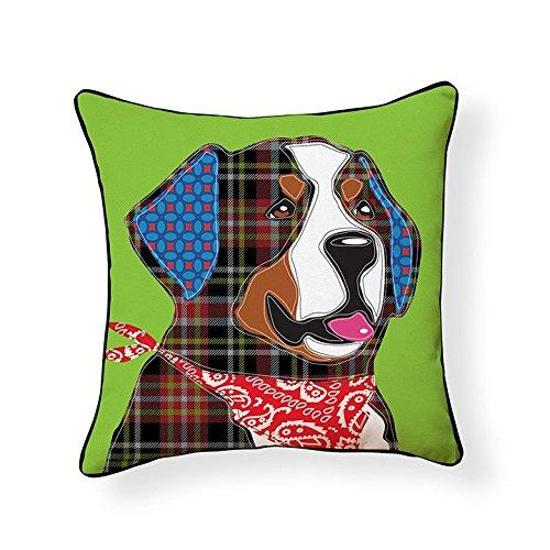 Bernese Mountain Dog Patchwork-Style Decorative Dog Pillows