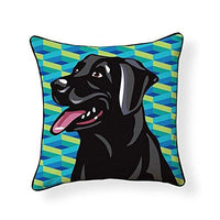 Black Labrador Retriever Pooch Decor Decorative Pillow