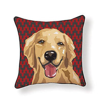 Golden Retriever Pooch Decor Decorative Pillow