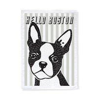 Hello Boston Terrier Tea Towel