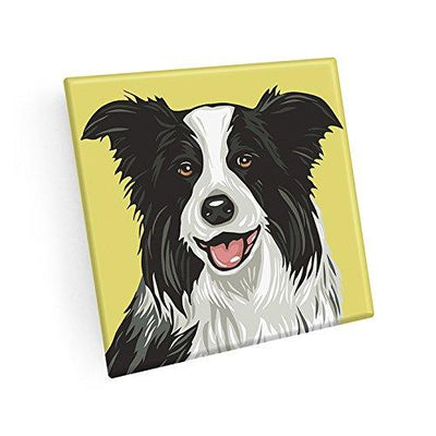 Border Collie Hand Crafted Glass Dog Coasters