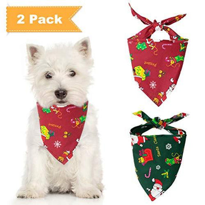 Christmas Triangle Dog Bandanas - Set of 2