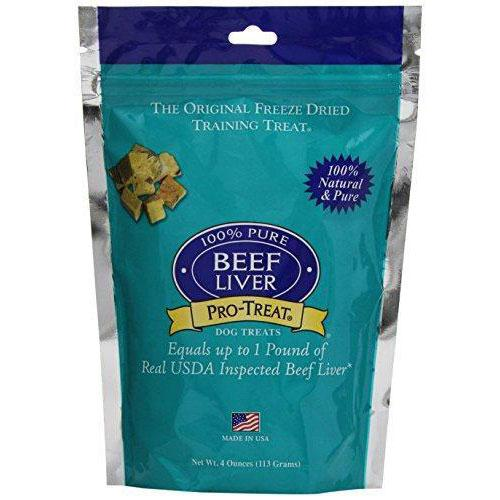 Stewart Pro-Treat Freeze Dried Liver Dog Training Treat, 4-Ounce