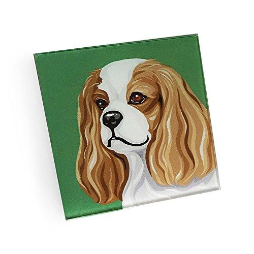 Cavalier King Charles Spaniel Hand Crafted Glass Dog Coasters
