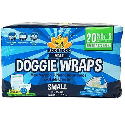 Premium Disposable Dog Male Wraps, 20 pack