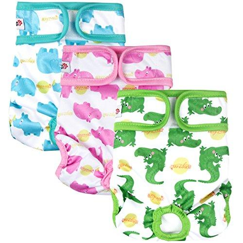 Adorable Animal Pattern Dog Diapers (3pack)