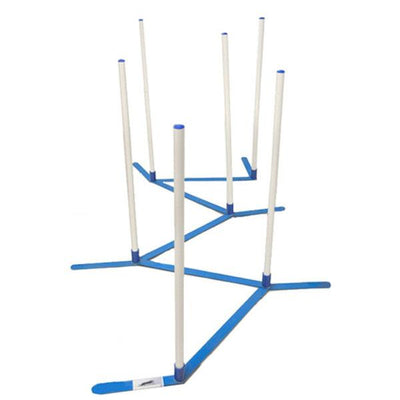 Adjustable Agility Weave Poles - 6 Pole Set