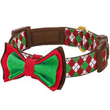 Christmas Dog Collar with Detachable Bow Tie
