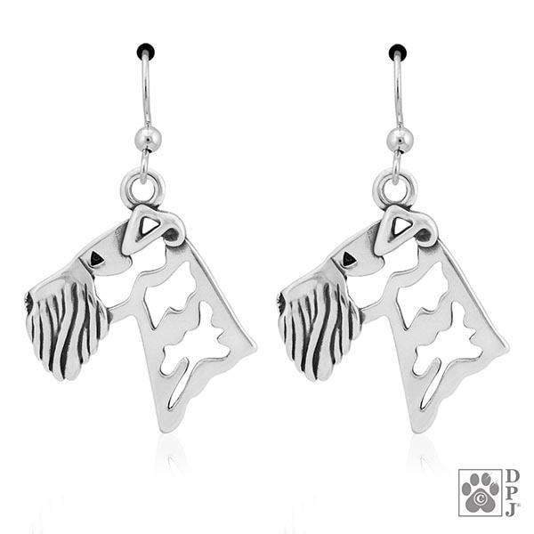 Airedale Terrier Head, Earring