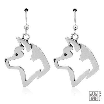 Akita, Head, Earrings