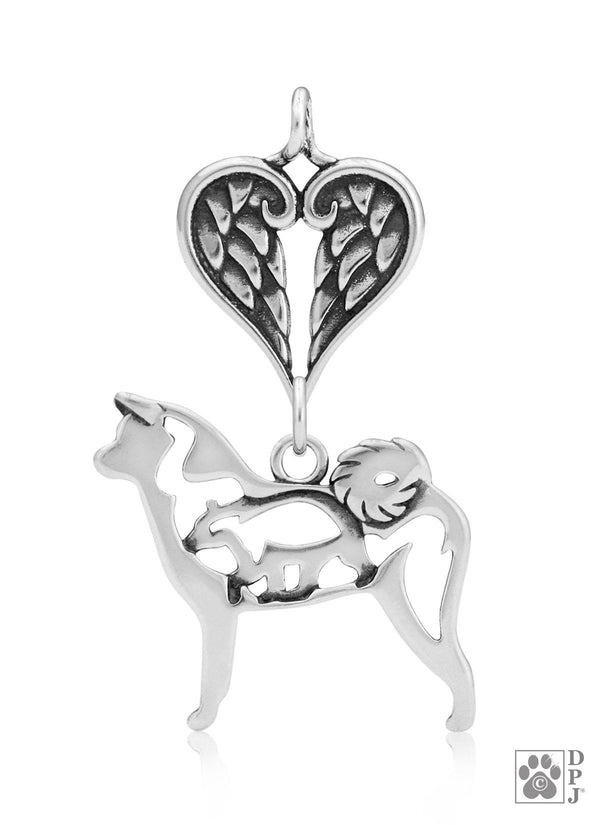 Akita w/Bear, Body, with Healing Angels Pendant