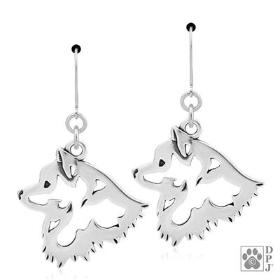 American Eskimo Dog, Head, Earring