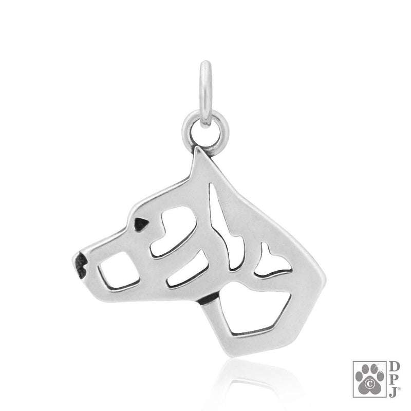 American Staffordshire Terrier Cropped, Head, Pendant