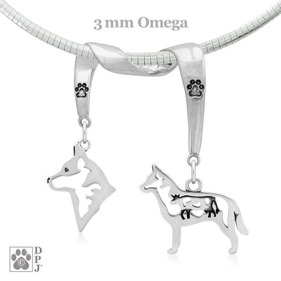 Australian Cattle Dog, Charm Holder, Necklace