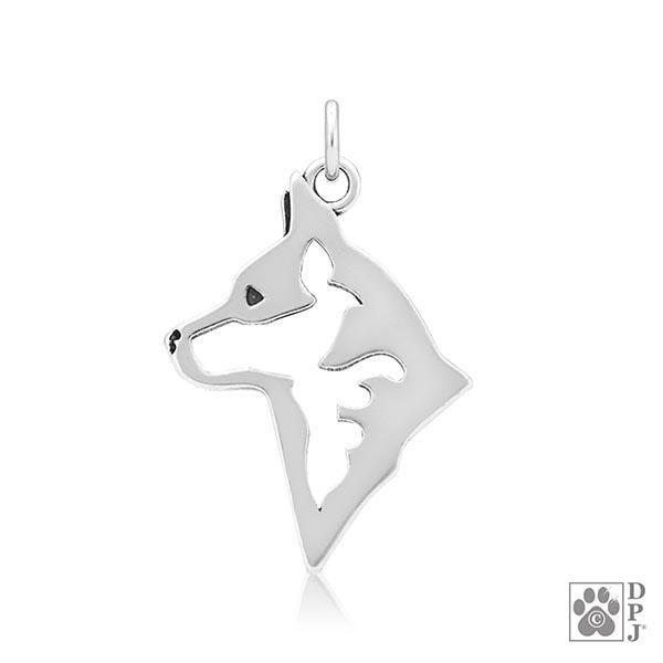 Australian Cattle Dog, Head, Pendant