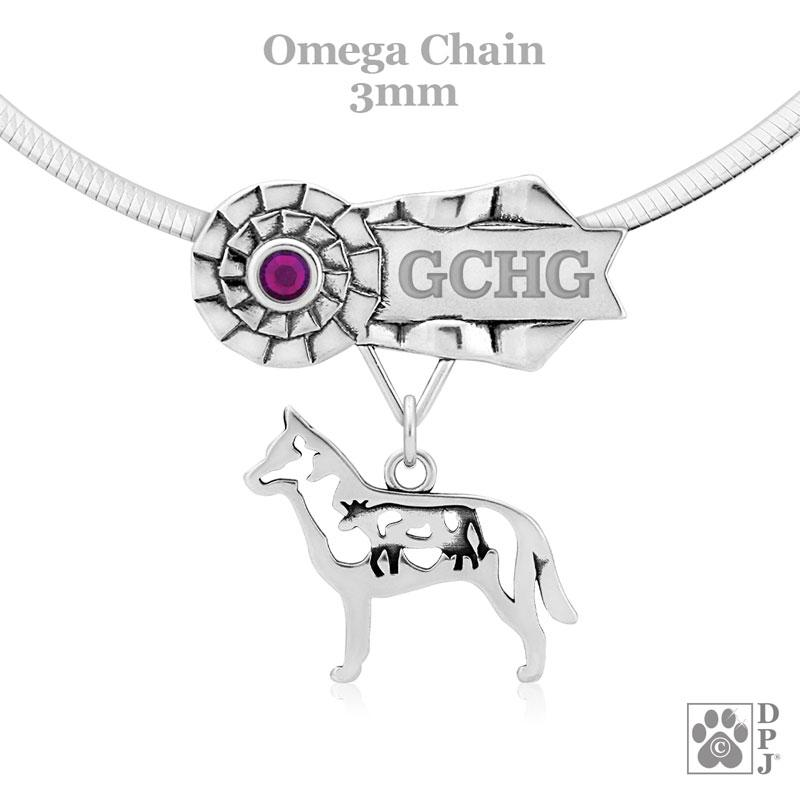 Australian Cattle Dog w/Cow, Body, Ribbon Charm Holder