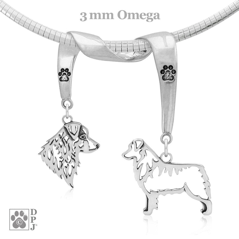 Australian Shepherd, Charm Holder, Necklace
