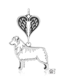 Australian Shepherd, Body, with Healing Angels Pendant