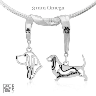 Basset Hound, Charm Holder, Necklace
