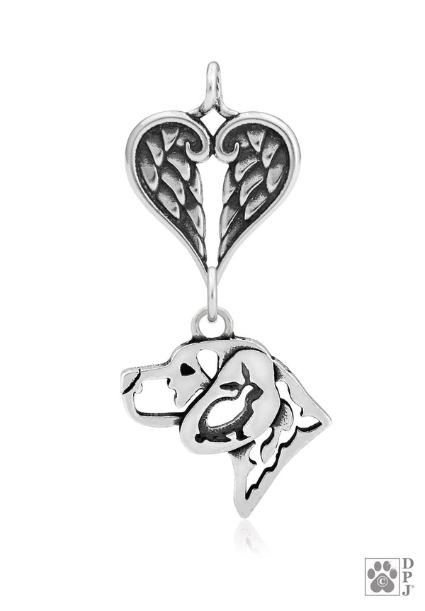 Beagle w/Bunny, Head, with Healing Angels Pendant