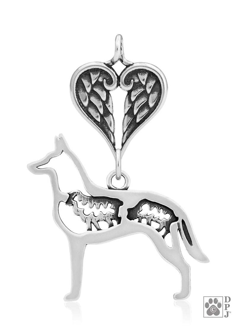 Belgian Malinois w/Sheep, Body, with Healing Angels Pendant