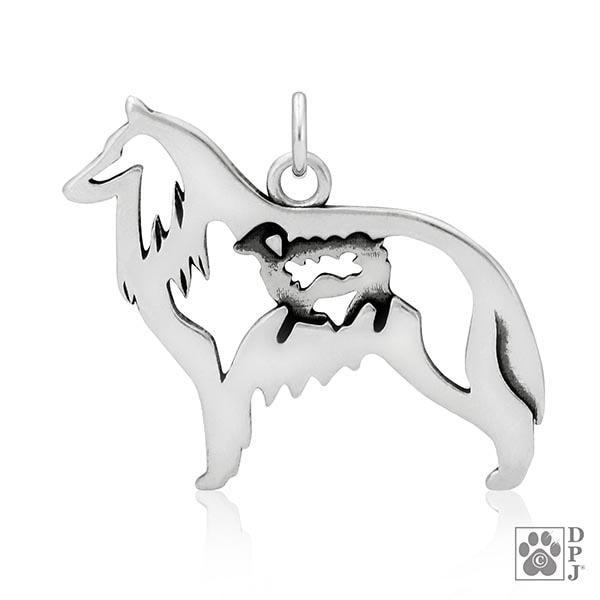 Belgian Sheepdog w/Sheep, Body, Pendant