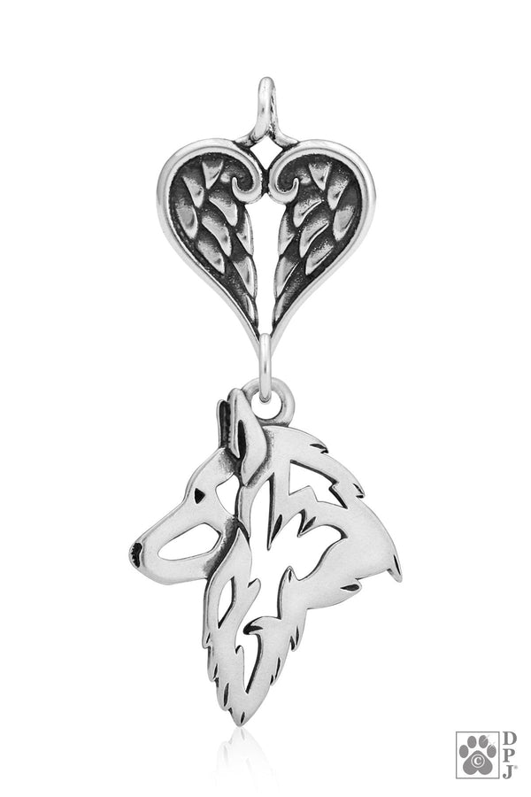 Belgian Tervuren, Head, with Healing Angels Pendant
