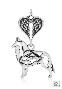 Belgian Tervuren, w/Sheep, Body, with Healing Angels Pendant