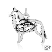 Belgian Tervuren, w/Sheep, Body, Pendant