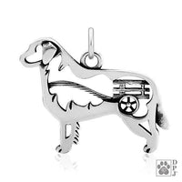 Bernese Mountain Dog w/Cart, Body, Pendant