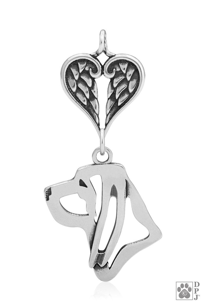 Bloodhound, Head, with Healing Angels Pendant