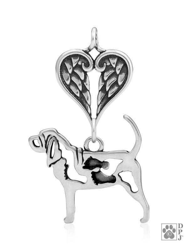 Bloodhound w/Feet, Body, with Healing Angels Pendant